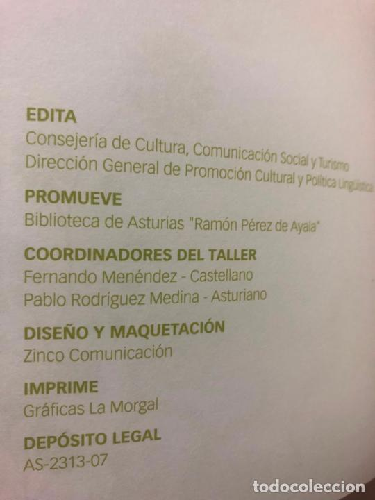 Relatos y Cuentos: UN PUÑADO DE LETRAS, TALLER LITERARIO DE LA BIBLIOTECA DE ASTURIAS, EN ESPAÑOL Y ASTURIANO,2007 - Foto 3 - 288100523