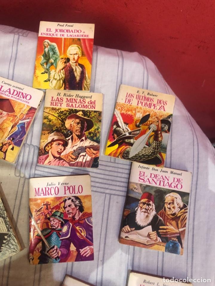 Relatos y Cuentos: Lote de 25libritos cuentos pequeños minibiblioteca de la literatura universal 1983 - Foto 3 - 289701173