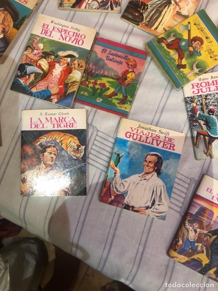 Relatos y Cuentos: Lote de 25libritos cuentos pequeños minibiblioteca de la literatura universal 1983 - Foto 6 - 289701173