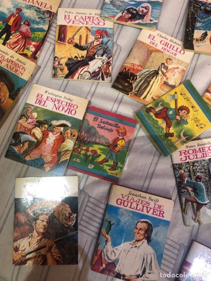 Relatos y Cuentos: Lote de 25libritos cuentos pequeños minibiblioteca de la literatura universal 1983 - Foto 7 - 289701173