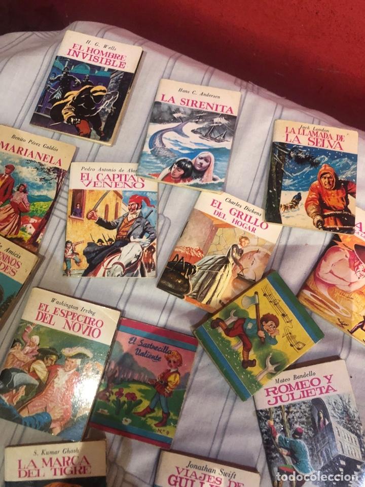 Relatos y Cuentos: Lote de 25libritos cuentos pequeños minibiblioteca de la literatura universal 1983 - Foto 8 - 289701173