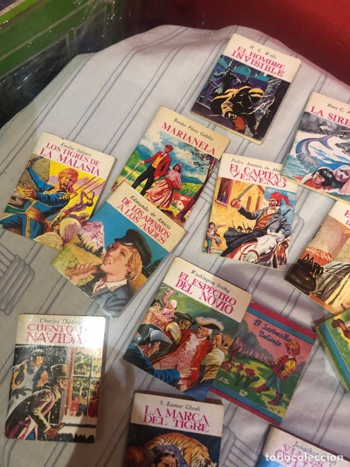 Relatos y Cuentos: Lote de 25libritos cuentos pequeños minibiblioteca de la literatura universal 1983 - Foto 9 - 289701173
