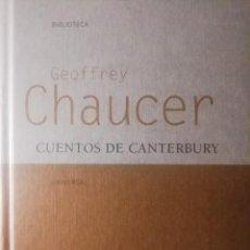 Relatos y Cuentos: GEOFFREY CHAUCER, CUENTOS DE CANTERBURY, GREDOS. Lote 293367043