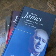 Relatos y Cuentos: HENRY JAMES - CUENTOS COMPLETOS 3 VOL. - PÁGINAS DE ESPUMA (2017) ENVÍO GRATIS. Lote 295725418