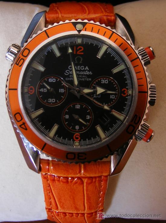 Omega Seamaster Correa Naranja