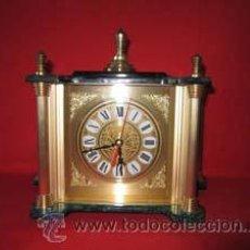 Relojes automáticos: RELOJ QUARTZ DE SOBREMESA EN DORADO.. Lote 27588772