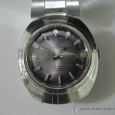 Relojes automáticos: RELOJ SUIZO MARCA DELKAR AUTOMATICO ACERO . 25 RUBIES INCABLOC . FUNCIONANDO. Lote 30658291