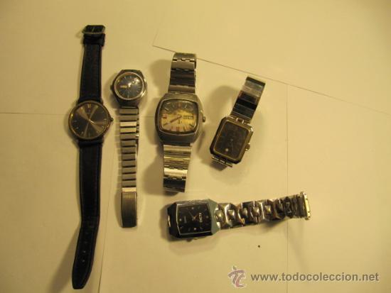 LOTE DE 5 RELOJES PARA REPASAR O REPARAR (Relojes - Relojes Automáticos)