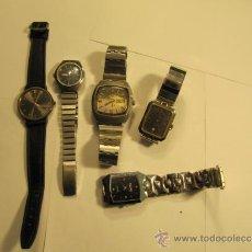 Relojes automáticos: LOTE DE 5 RELOJES PARA REPASAR O REPARAR. Lote 34262087