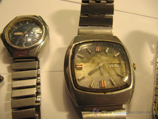 Relojes automáticos: Lote de 5 relojes para repasar o reparar - Foto 3 - 34262087