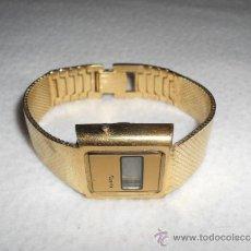 Relojes automáticos: QUARTZ RELOJ DE PULSERA METALICO DORADO COLOR ORO DIGITAL - VINTAGE 1980 RETRO 80S. Lote 36820502