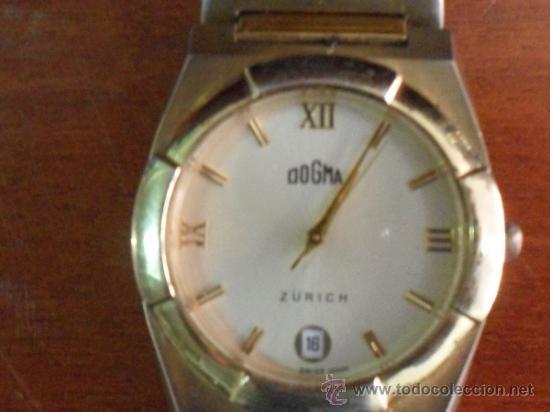 Relojes automáticos: RELOJ DOGMA CALENDARIO CHAPADO EN ORO - PILAS- (FUNCIONANDO) - (I-A-76) - Foto 3 - 37722817