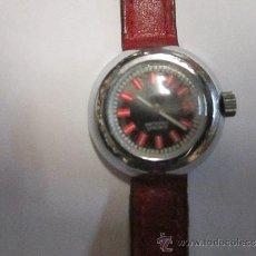 Relojes automáticos - Reloj automático de señora Diamant Antichoque con esfera negra. 17 Rubis. Funcionando. - 38026507