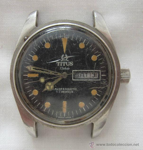 RELOJ TITUS CALYPSOMATIC CLEBAR AUTOMATICO AÑOS 70 BUZO (Relojes - Relojes Automáticos)