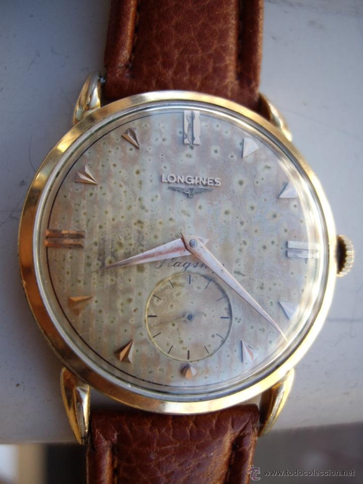 Relojes automáticos: Longines caja de oro años 50. - Foto 2 - 42186925