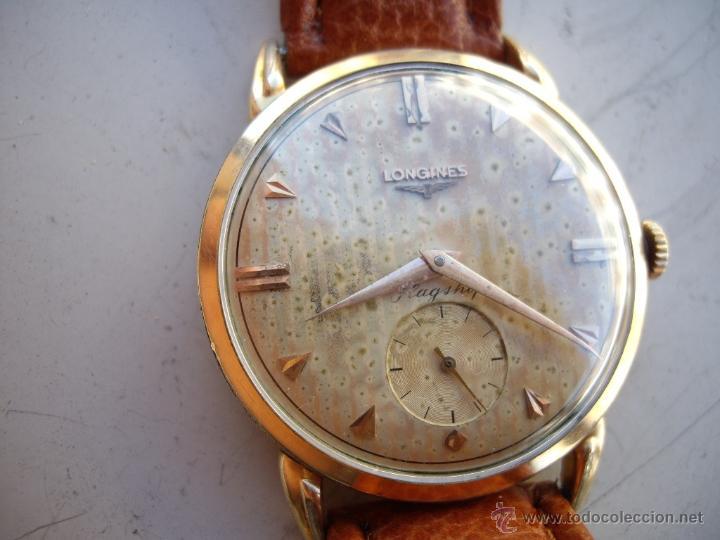 Relojes automáticos: Longines caja de oro años 50. - Foto 3 - 42186925