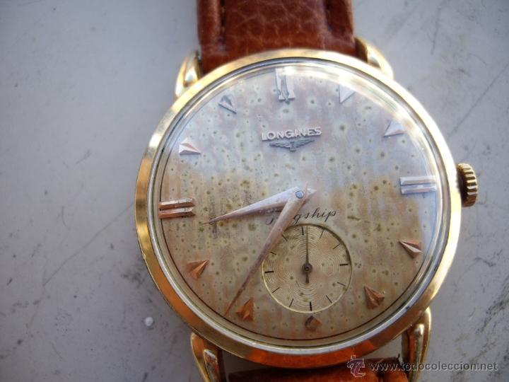 Relojes automáticos: Longines caja de oro años 50. - Foto 4 - 42186925