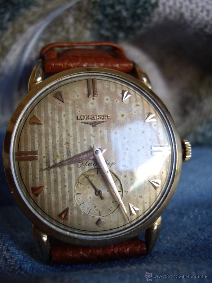 Relojes automáticos: Longines caja de oro años 50. - Foto 5 - 42186925