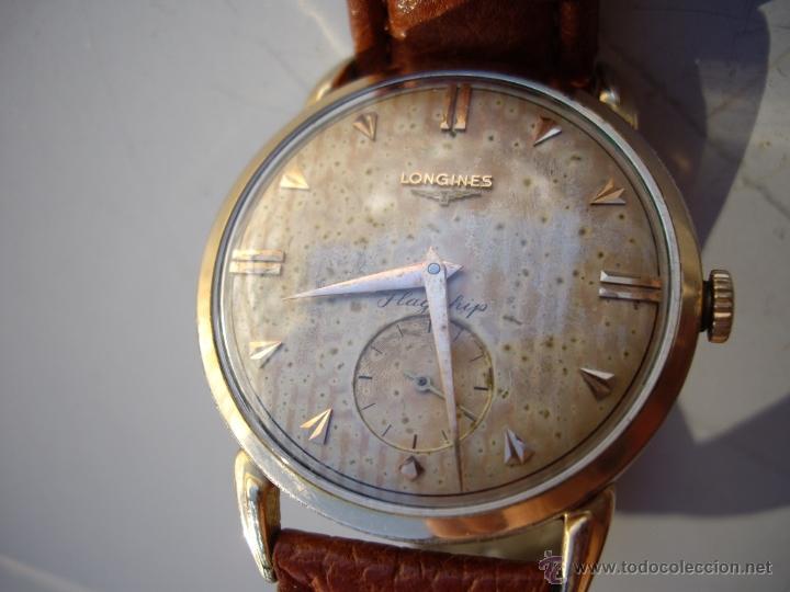 Relojes automáticos: Longines caja de oro años 50. - Foto 6 - 42186925