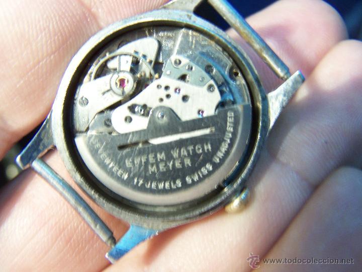 Relojes automáticos: Antiguo reloj automático EFFEN WATCH MEYER 17 JEWELS MADE IN SWISS - Foto 2 - 42679812