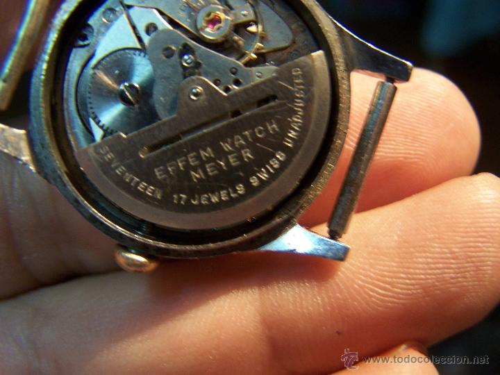 Relojes automáticos: Antiguo reloj automático EFFEN WATCH MEYER 17 JEWELS MADE IN SWISS - Foto 3 - 42679812