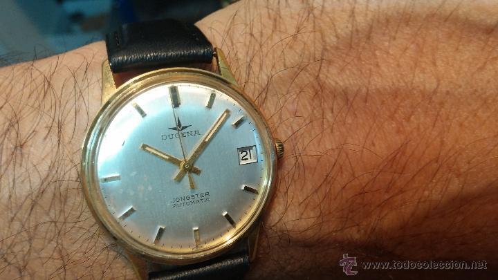 RELOJ ANTIGUO DE CABALLERO DUGENA JONGSTER AUTOMÁTICO 1092, AÑOS 70, CHAPADO EN ORO DE 20 MICRAS (Relojes - Relojes Automáticos)