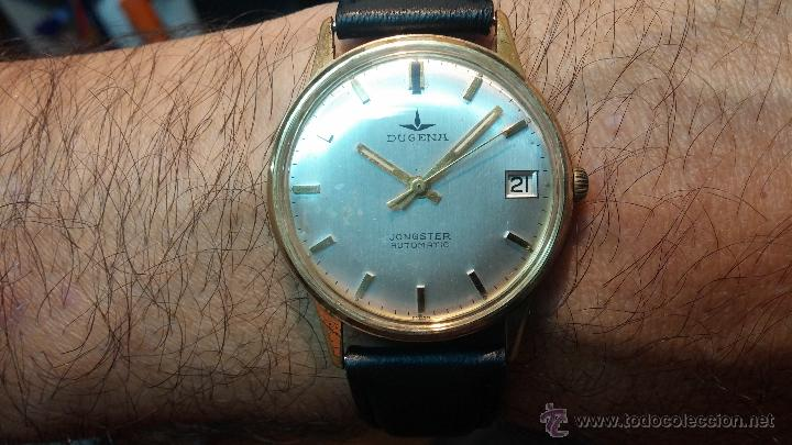 Relojes automáticos: Reloj antiguo de caballero Dugena Jongster automático 1092, años 70, chapado en oro de 20 micras - Foto 2 - 184137398