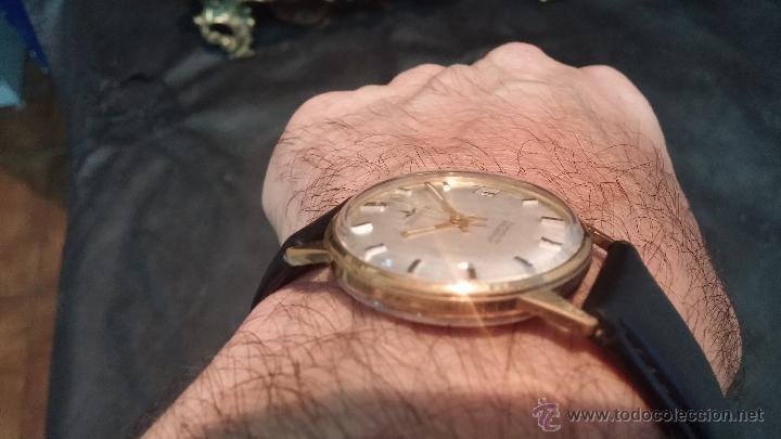 Relojes automáticos: Reloj antiguo de caballero Dugena Jongster automático 1092, años 70, chapado en oro de 20 micras - Foto 4 - 184137398
