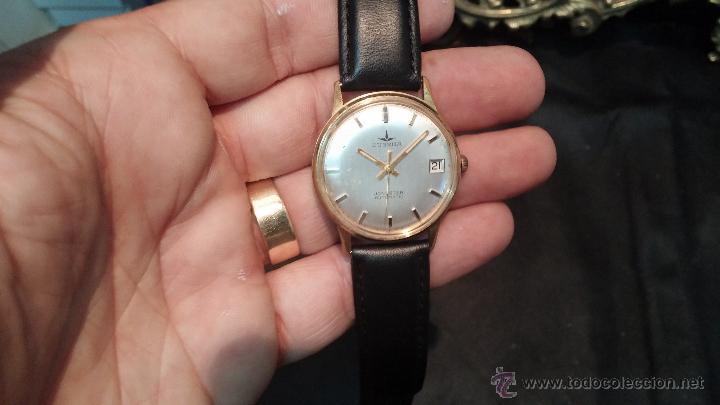 Relojes automáticos: Reloj antiguo de caballero Dugena Jongster automático 1092, años 70, chapado en oro de 20 micras - Foto 7 - 184137398