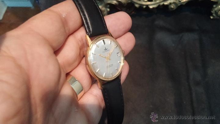 Relojes automáticos: Reloj antiguo de caballero Dugena Jongster automático 1092, años 70, chapado en oro de 20 micras - Foto 8 - 184137398
