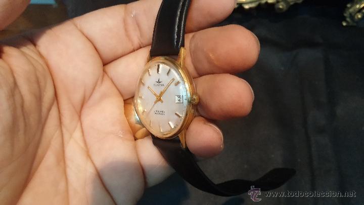 Relojes automáticos: Reloj antiguo de caballero Dugena Jongster automático 1092, años 70, chapado en oro de 20 micras - Foto 9 - 184137398