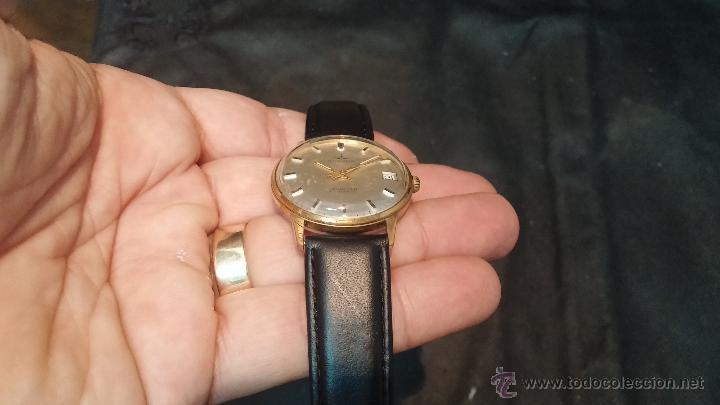 Relojes automáticos: Reloj antiguo de caballero Dugena Jongster automático 1092, años 70, chapado en oro de 20 micras - Foto 13 - 184137398