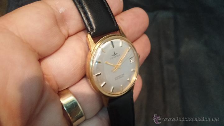 Relojes automáticos: Reloj antiguo de caballero Dugena Jongster automático 1092, años 70, chapado en oro de 20 micras - Foto 14 - 184137398