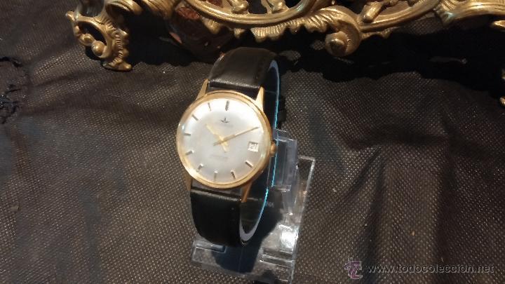Relojes automáticos: Reloj antiguo de caballero Dugena Jongster automático 1092, años 70, chapado en oro de 20 micras - Foto 16 - 184137398