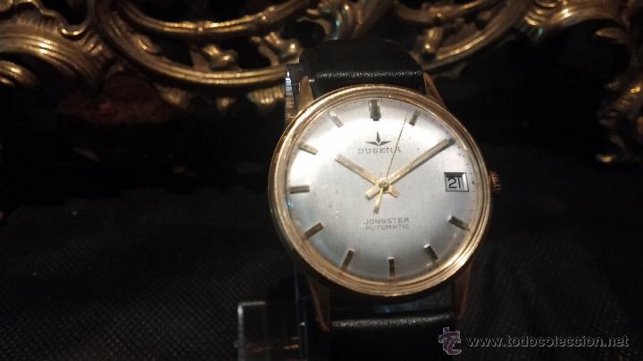 Relojes automáticos: Reloj antiguo de caballero Dugena Jongster automático 1092, años 70, chapado en oro de 20 micras - Foto 18 - 184137398