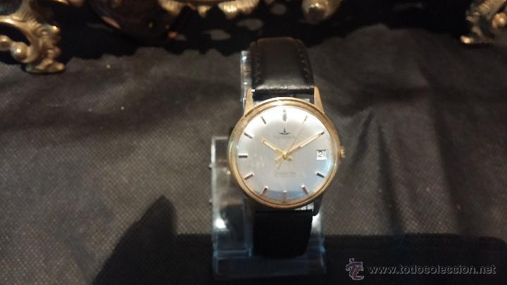 Relojes automáticos: Reloj antiguo de caballero Dugena Jongster automático 1092, años 70, chapado en oro de 20 micras - Foto 19 - 184137398