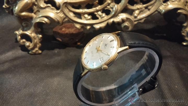 Relojes automáticos: Reloj antiguo de caballero Dugena Jongster automático 1092, años 70, chapado en oro de 20 micras - Foto 20 - 184137398