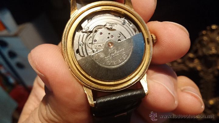 Relojes automáticos: Reloj antiguo de caballero Dugena Jongster automático 1092, años 70, chapado en oro de 20 micras - Foto 24 - 184137398