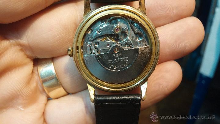 Relojes automáticos: Reloj antiguo de caballero Dugena Jongster automático 1092, años 70, chapado en oro de 20 micras - Foto 25 - 184137398