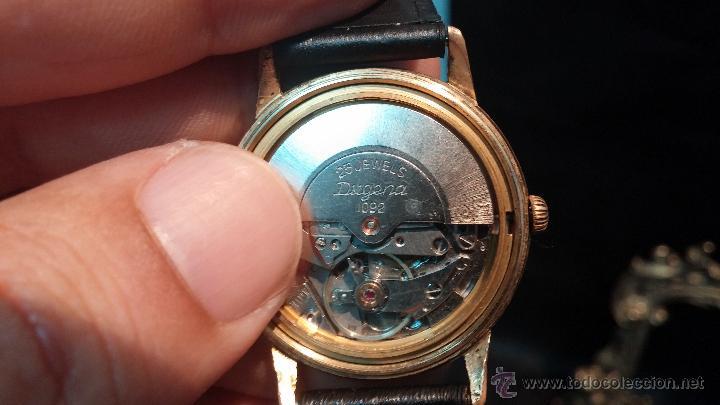 Relojes automáticos: Reloj antiguo de caballero Dugena Jongster automático 1092, años 70, chapado en oro de 20 micras - Foto 26 - 184137398