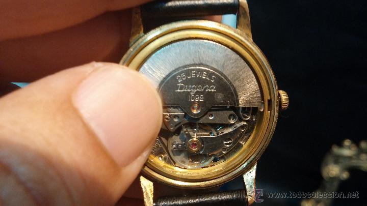 Relojes automáticos: Reloj antiguo de caballero Dugena Jongster automático 1092, años 70, chapado en oro de 20 micras - Foto 27 - 184137398