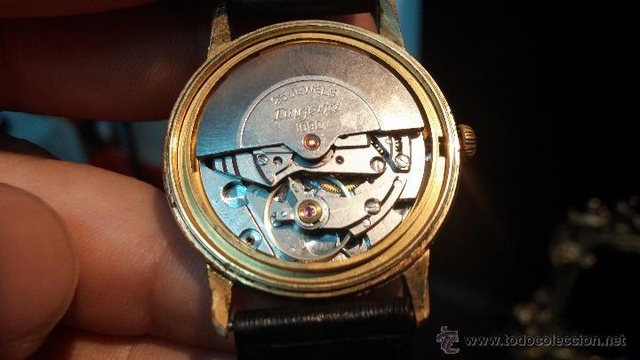 Relojes automáticos: Reloj antiguo de caballero Dugena Jongster automático 1092, años 70, chapado en oro de 20 micras - Foto 28 - 184137398