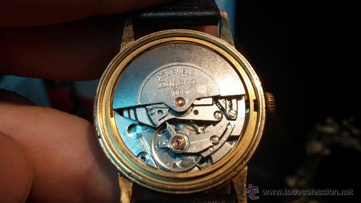 Relojes automáticos: Reloj antiguo de caballero Dugena Jongster automático 1092, años 70, chapado en oro de 20 micras - Foto 29 - 184137398