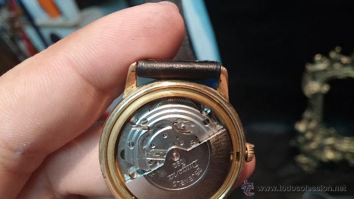 Relojes automáticos: Reloj antiguo de caballero Dugena Jongster automático 1092, años 70, chapado en oro de 20 micras - Foto 33 - 184137398