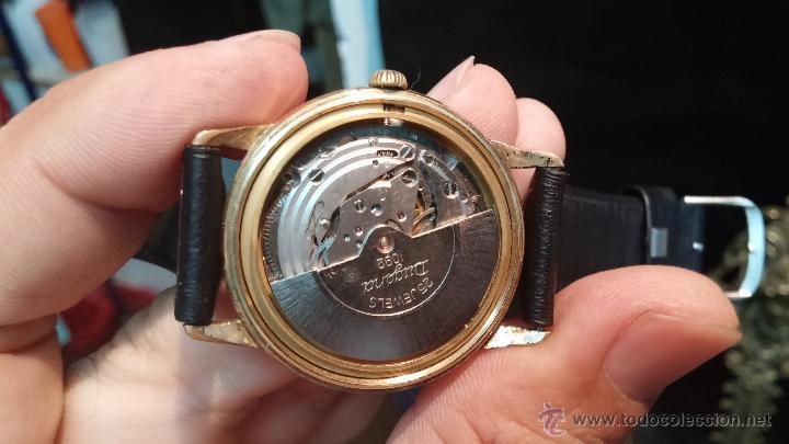 Relojes automáticos: Reloj antiguo de caballero Dugena Jongster automático 1092, años 70, chapado en oro de 20 micras - Foto 34 - 184137398