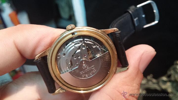 Relojes automáticos: Reloj antiguo de caballero Dugena Jongster automático 1092, años 70, chapado en oro de 20 micras - Foto 35 - 184137398
