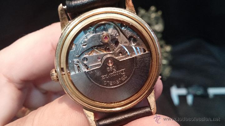 Relojes automáticos: Reloj antiguo de caballero Dugena Jongster automático 1092, años 70, chapado en oro de 20 micras - Foto 36 - 184137398