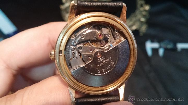 Relojes automáticos: Reloj antiguo de caballero Dugena Jongster automático 1092, años 70, chapado en oro de 20 micras - Foto 37 - 184137398