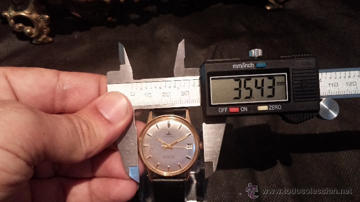 Relojes automáticos: Reloj antiguo de caballero Dugena Jongster automático 1092, años 70, chapado en oro de 20 micras - Foto 38 - 184137398