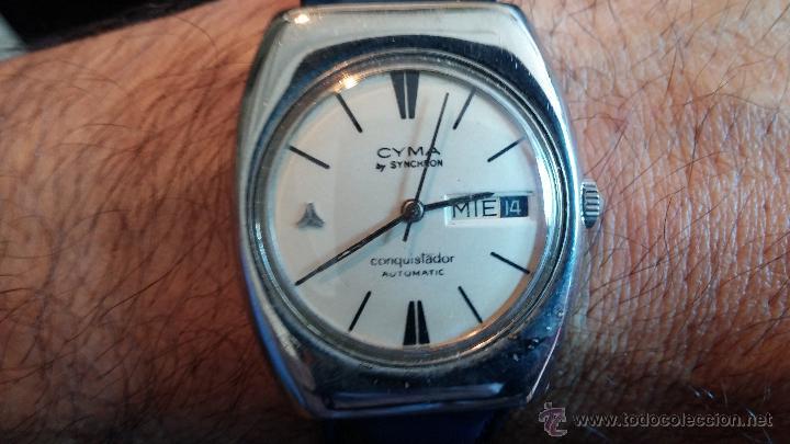 Relojes automáticos: Antiguo reloj Cyma automático Conquistador by Synchron - Foto 2 - 43377082